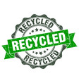 recycled stamp sign seal vector image