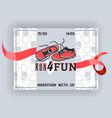 run for fun banner flyer vector image vector image