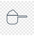 scoop concept linear icon isolated on transparent vector image