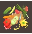 Still Life With Cooking Ingredients For Fresh vector image vector image