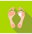 Tag on leg of corpse icon flat style vector image vector image