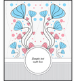 template cards for postcards vector image vector image