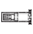 temple of edfu group plan is a ground plan vector image vector image