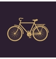 The bike icon Bicycle symbol Flat vector image