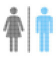 toilet persons halftone icon vector image vector image