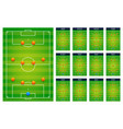 top best popular football soccer green fields vector image