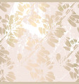 trendy floral gold foil patina blush background vector image vector image