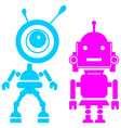 Two cute robots girl and guy vector image vector image