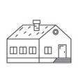 village building thin line icon concept village vector image