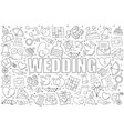 wedding background from line icon vector image vector image