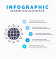 world globe seo business optimization vector image vector image
