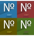 Color set number Flat modern web button with long vector image