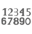 Decorative numerals vector image