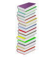 multicolored books vector image