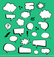 comic cartoon text boxes with elements and green vector image