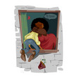 digital funny comic cartoon romantic vector image