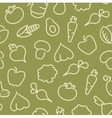 Seamless pattern with contours of vegetables vector image