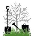 Working in the garden vector image