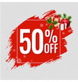 50 sale red blobs banner vector image vector image