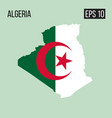 algeria map border with flag eps10