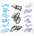 arrow collections vector image vector image