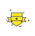 badge icon design vector image vector image