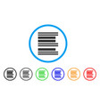 barcode rounded icon vector image vector image