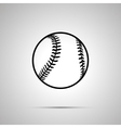 Baseball ball simple black icon vector image