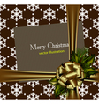 beautiful gold christmas card vector image vector image