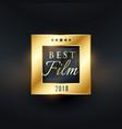 best film movie award golden label design vector image vector image