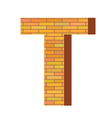 brick letter T vector image