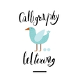Calligraphy and lettering vector image