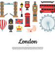 cartoon london sights with place for text vector image vector image