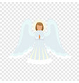 christmas angel icon flat style vector image