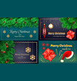 christmas banner set realistic style vector image vector image