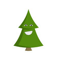 christmas tree fun smiling emoji with teeth vector image
