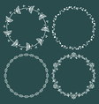 Circle frames round borders hand drawn doodle vector image