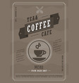 coffee menu design template vector image vector image