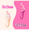 colorful background with two ice creams for your vector image vector image