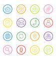 colorful line web icon set circle vector image vector image