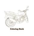 Coloring book motorbike vector image vector image