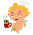 cupid or angel cartoon character vector image vector image