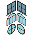different shapes of windows vector image vector image