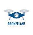 drone plane - logo template concept vector image