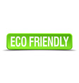 eco friendly green 3d realistic square isolated vector image vector image