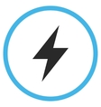 Electric Strike Flat Rounded Icon vector image