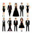 elegant fashion people vector image vector image