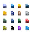 file type icons - miscellaneous vector image vector image
