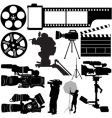 film camera and equipments vector image vector image