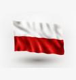 flag poland vector image